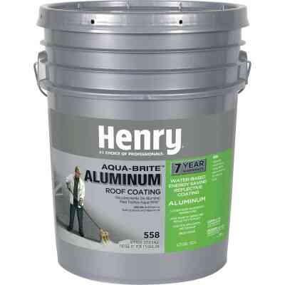 Henry Aqua-Brite 5 Gal. Fibered Aluminum Roof Coating