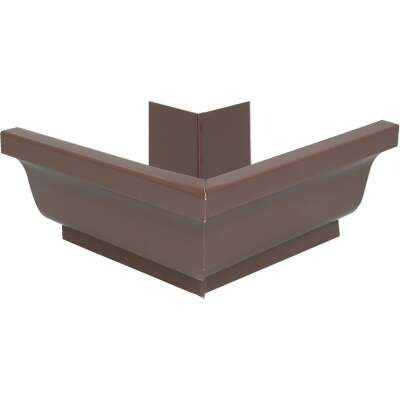 Spectra Metals 5 In. Aluminum Brown Mitre Gutter Outside Corner
