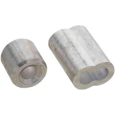 "Prime-Line Cable Ferrules and Stops, 1/4"", Aluminum"