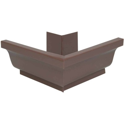 Amerimax 5 In. Galvanized Brown Mitre Gutter Outside Corner