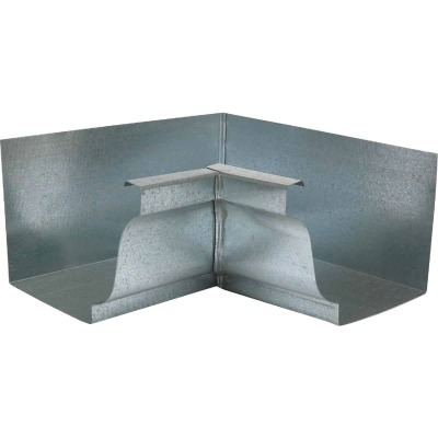 NorWesco 4 In. Galvanized Gutter Inside Corner