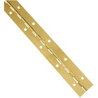 National Steel 1-1/2 In. x 12 In. Bright Brass Continuous Hinge Image 1