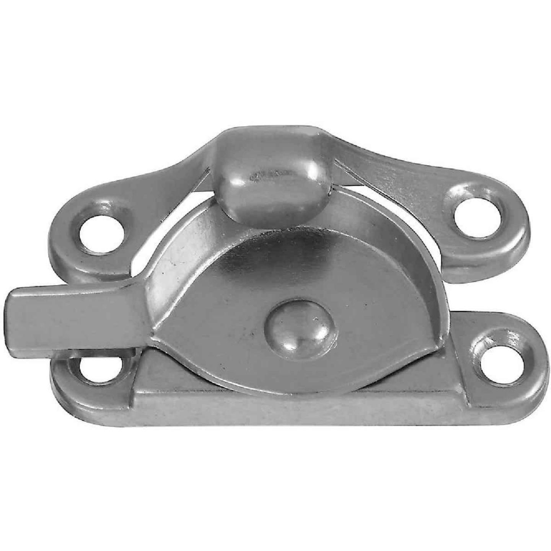 National Double Hung Satin Nickel Crescent Sash Lock Image 1