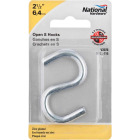 National 2-1/2 In. Zinc Heavy Open S Hook Image 2