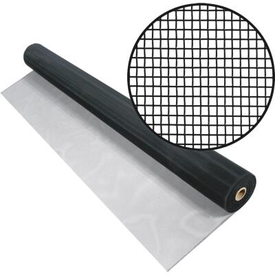 Phifer 36 In. x 100 Ft. Black Aluminum Screen
