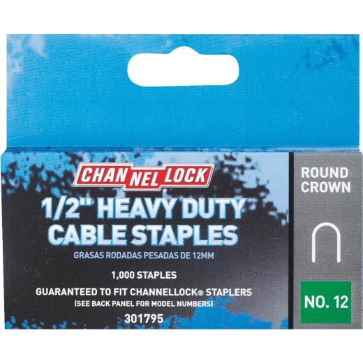 Channellock T25 Round Crown Cable Staple, 1/2 In. (1000-Pack)