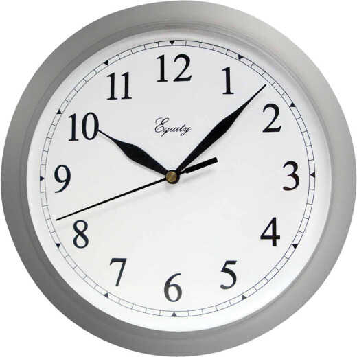 La Crosse Technology Equity Silver Quartz Wall Clock