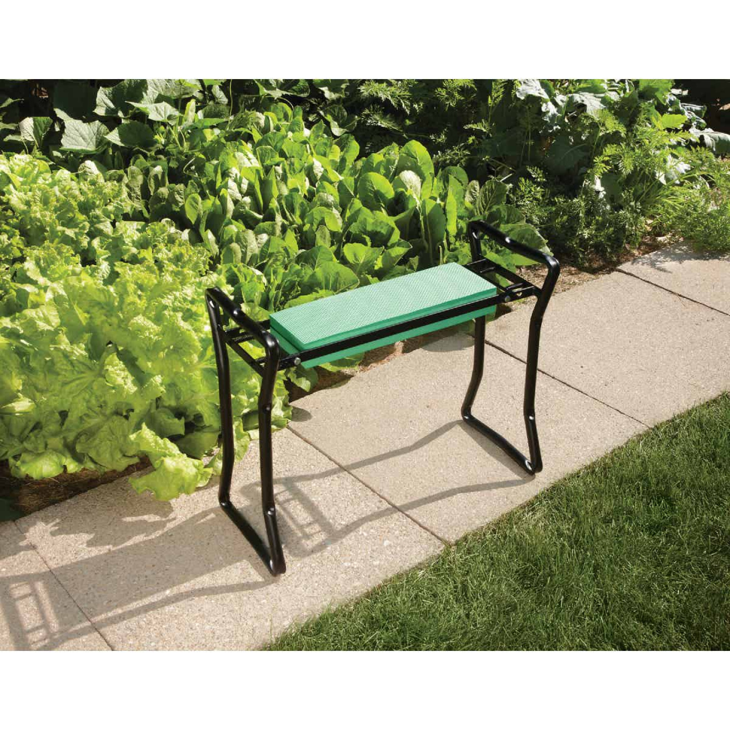Best Garden Green Foam Pad w/Black Steel Frame Garden Kneeler Bench Image 4
