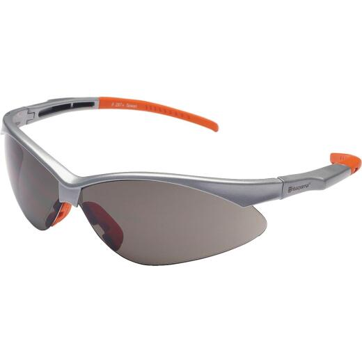 Husqvarna Gunmetal Frame Safety Glasses with Revo Mirrored Lenses