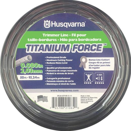 Husqvarna Titanium Force 0.080 In. x 50 Ft. Trimmer Line