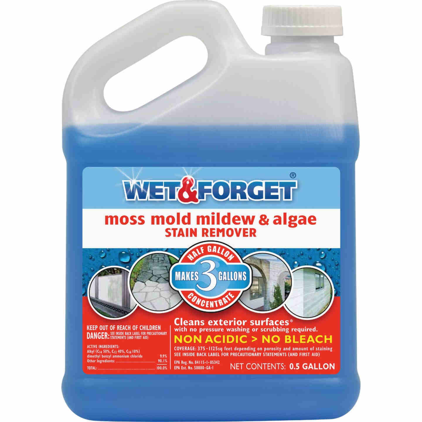 Wet & Forget 1/2 Gal. Liquid Concentrate Moss, Mold, Mildew, & Algae Stain Remover Image 1