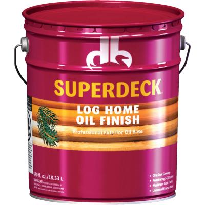 Duckback SUPERDECK VOC Translucent Log Home Oil Finish, Autumn Brown, 5 Gal.