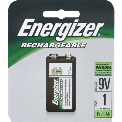 Energizer Recharge 9V NiMH Rechargeable Battery